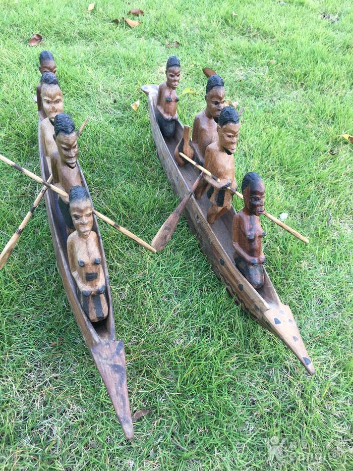 非洲木雕独木舟图9