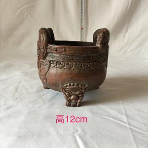 鼎形竹雕香炉   康熙年制款