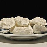 寿山瓷白芙蓉石 水饺 摆件