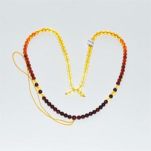 天然琥珀彩虹项链