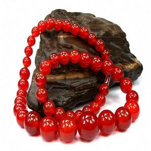 精品天然玛瑙项链 珠子直径6mm,