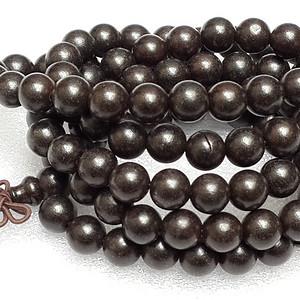 印尼黑檀木精品加长多层手链毛衣链54厘米0.6MM