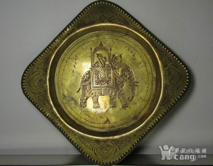 19世纪铜鎏金錾刻印度教人物故事壁挂饰图1