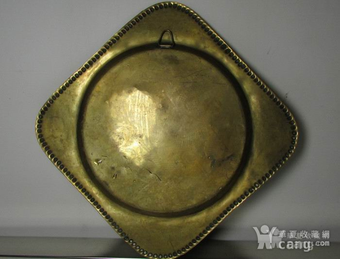 19世纪铜鎏金錾刻印度教人物故事壁挂饰图2