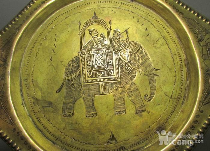 19世纪铜鎏金錾刻印度教人物故事壁挂饰图3