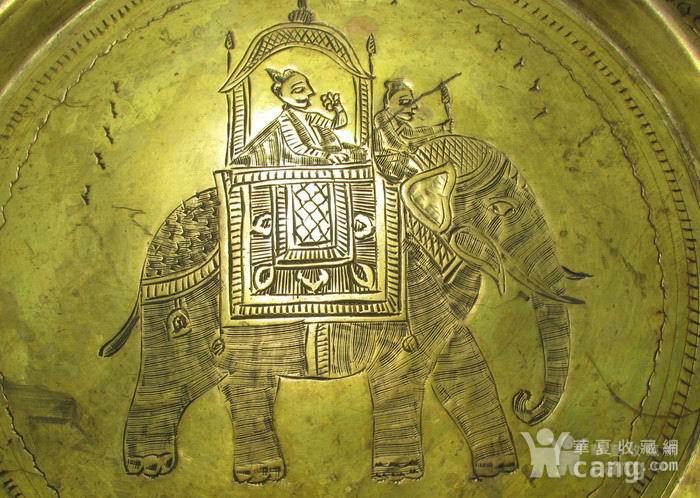 19世纪铜鎏金錾刻印度教人物故事壁挂饰图4