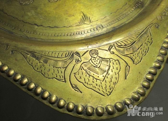 19世纪铜鎏金錾刻印度教人物故事壁挂饰图6