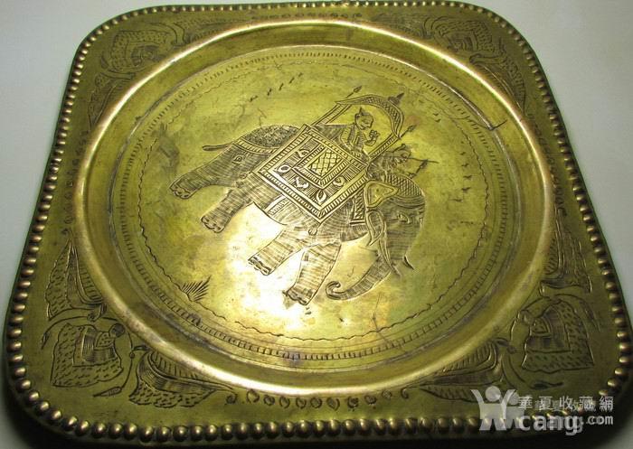19世纪铜鎏金錾刻印度教人物故事壁挂饰图5