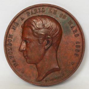 重要,英国大铜章,1874年拿破仑四世流亡英国纪念章