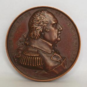 法国 1824年路易十八纪念章 原铸