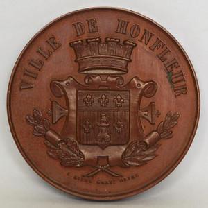 法国大铜章 一战期 翁弗勒尔市奖章
