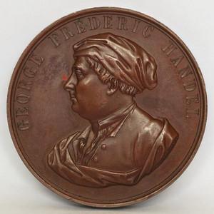 英国大铜章 1859年第一届伦敦世博会音乐节纪念章