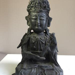 明代中原风格铜雕菩萨