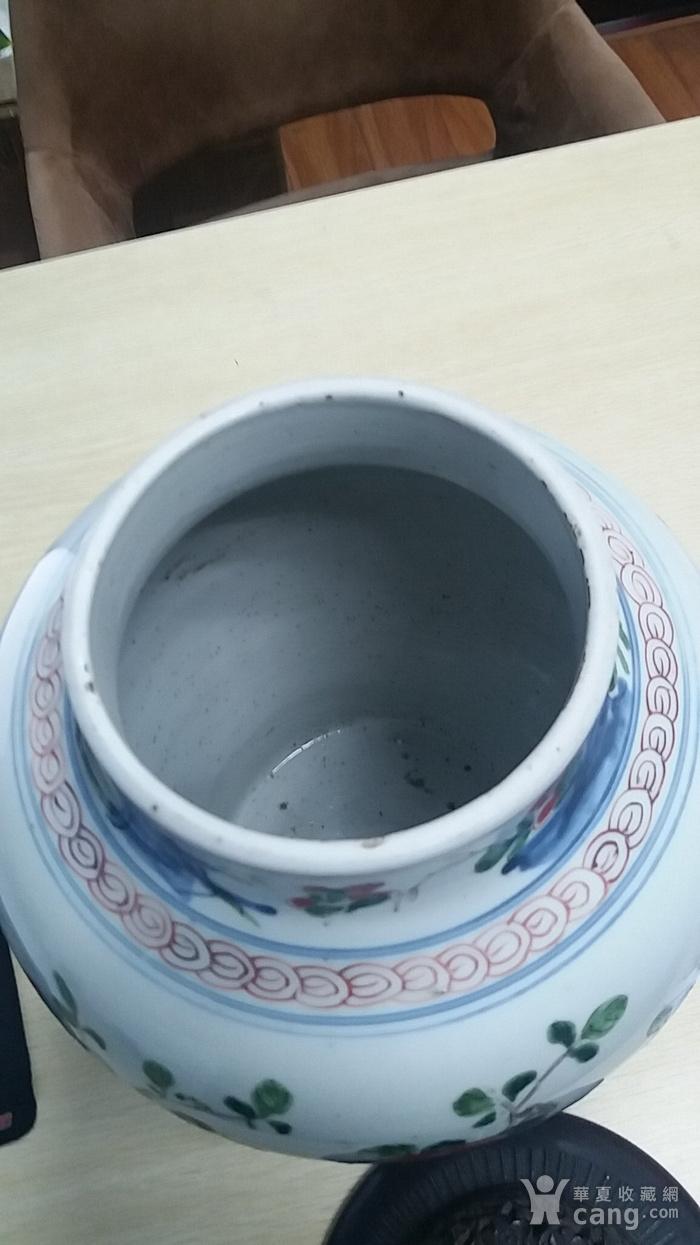 康青花五彩大罐图5