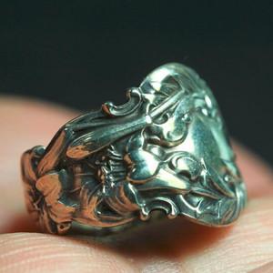 法国十九世纪洛可可风格银戒指