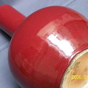 郎窑红天球瓶