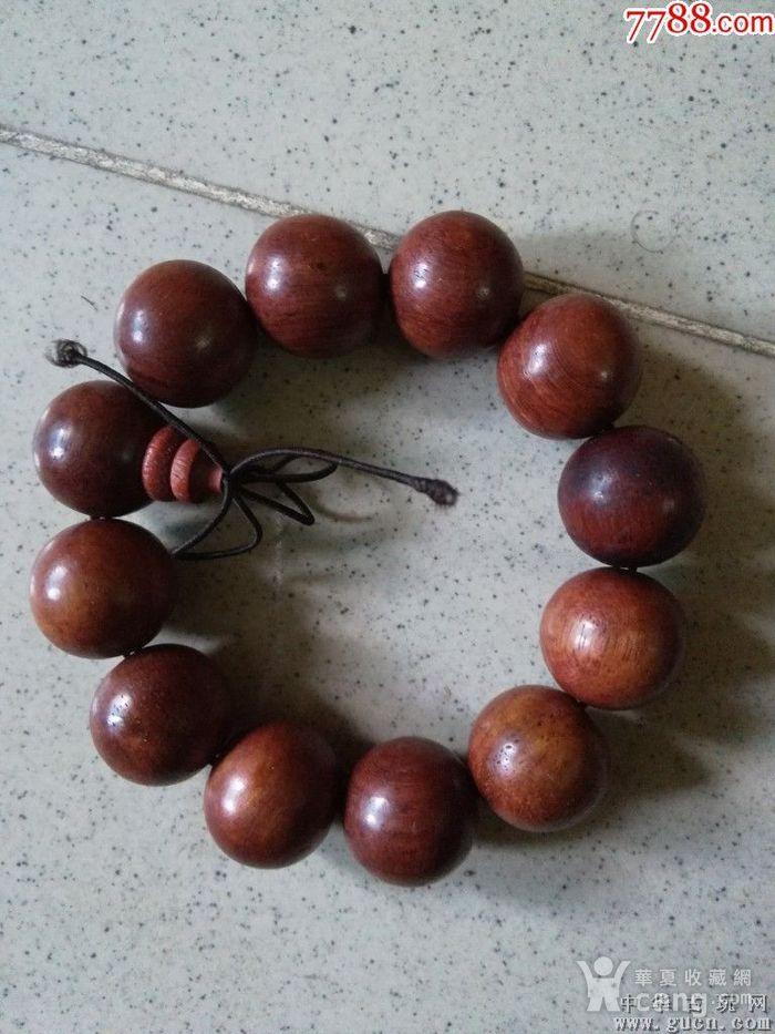 大型花梨木2.0手串包真花梨木珠子直径2厘米图3
