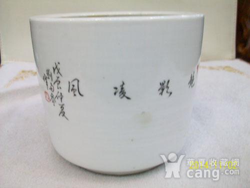 民国珠山八友刘雨岑浅降彩花鸟笔同图2