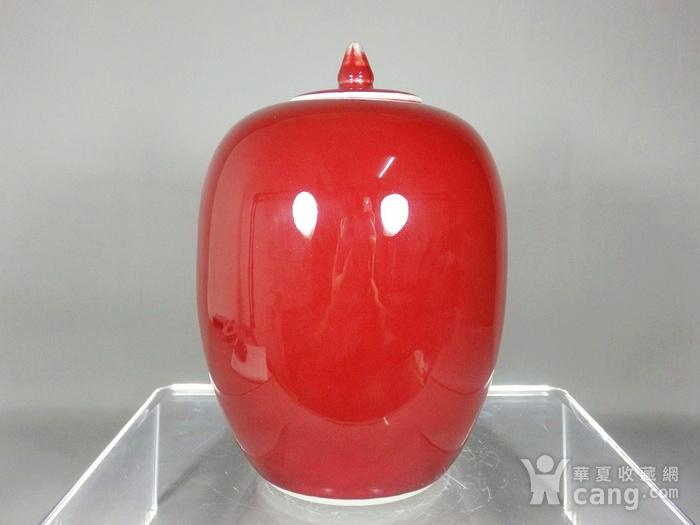 民国红釉冬瓜罐图2
