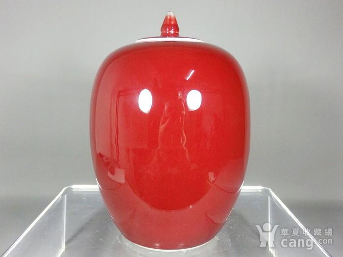 民国红釉冬瓜罐图1