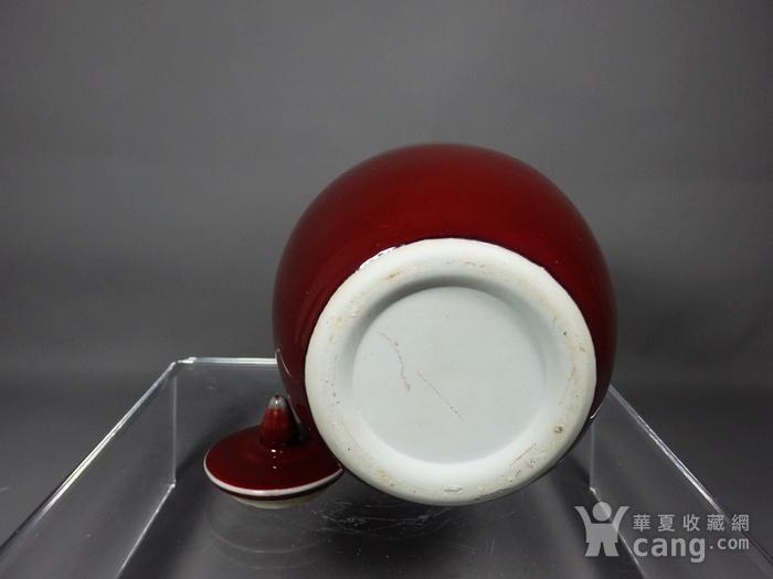 民国红釉冬瓜罐图5