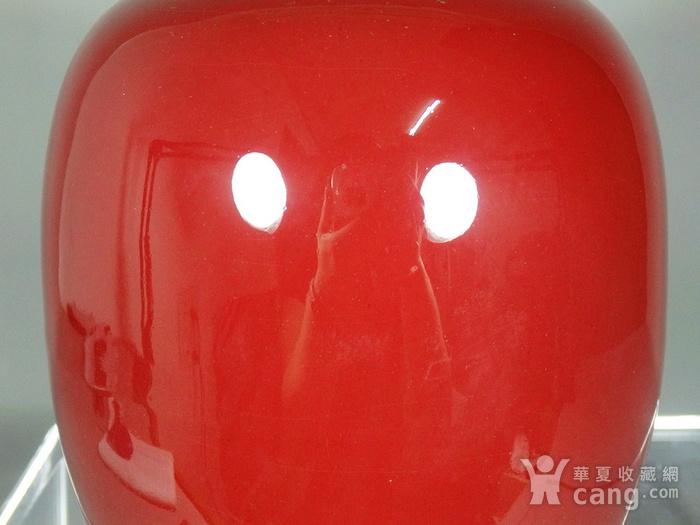 民国红釉冬瓜罐图3