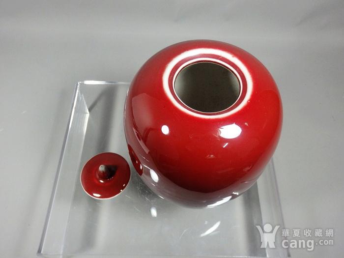 民国红釉冬瓜罐图4