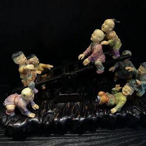 香港回流加彩 八童玩乐 摆件