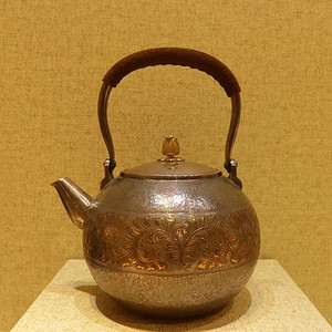 日本回流纯银提梁茶壶