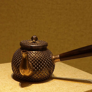 日本回流 纯银款霰打纹银壶