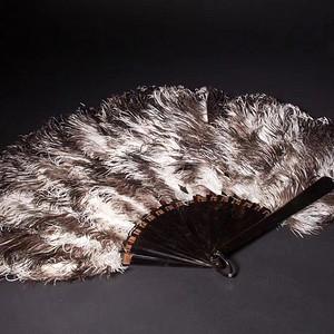 欧洲回流欧洲贵族使用超大天然玳瑁鸵鸟毛扇