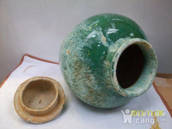 请绿釉宝珠罐图4