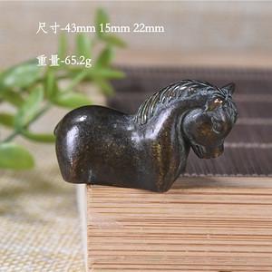 日本回流  紫铜 小马 镇纸