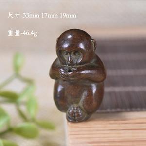 日本回流  紫铜 生肖小猴 镇纸