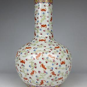 联盟 K2023光绪粉彩天球瓶