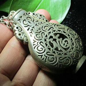 开门到代 晚清时期 银质 精工铸造 多子多福 香囊