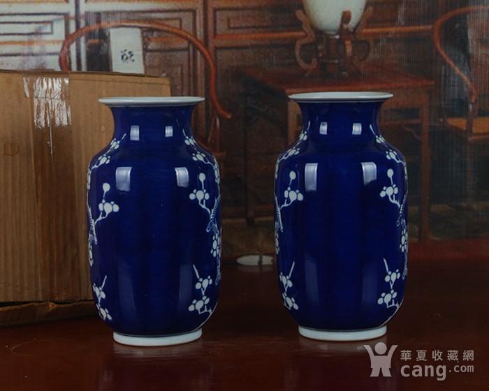 景德镇十大瓷厂老厂货瓷器 冰梅冬瓜瓶一对图3