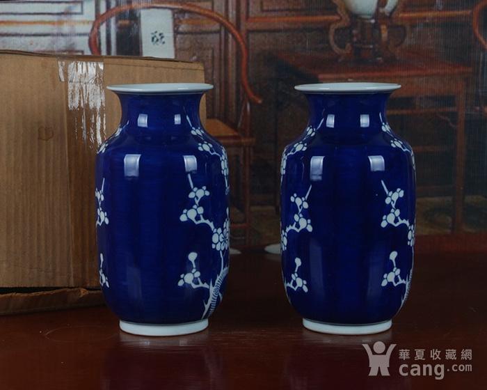 景德镇十大瓷厂老厂货瓷器 冰梅冬瓜瓶一对图5