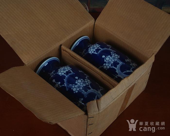 景德镇十大瓷厂老厂货瓷器 冰梅冬瓜瓶一对图8
