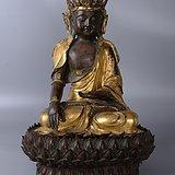 欧洲回流铜鎏金佛像