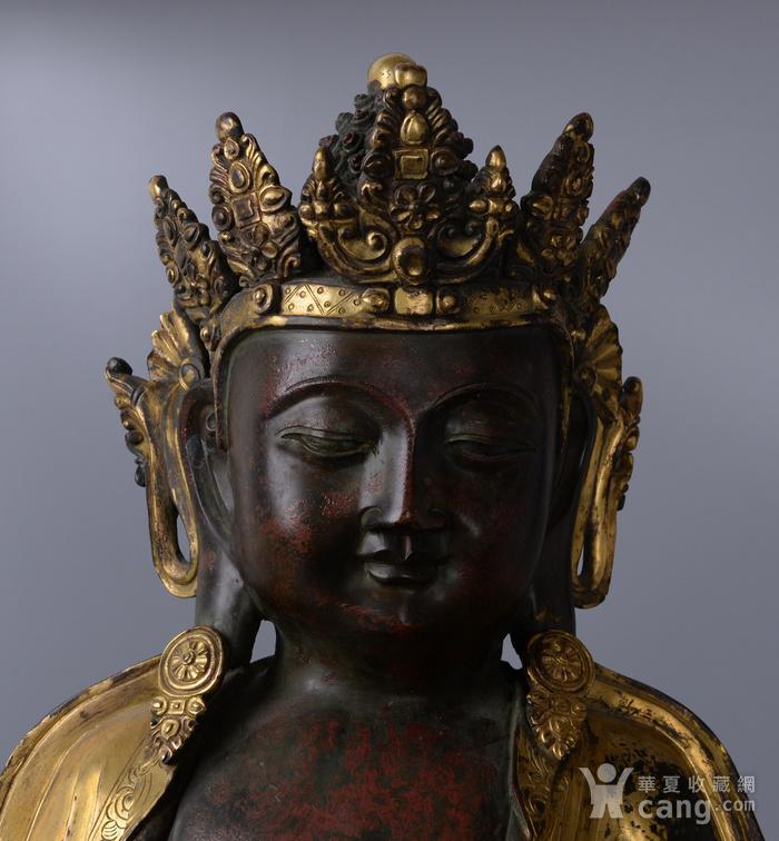 欧洲回流铜鎏金佛像图2