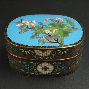 清代铜胎掐丝珐琅茶叶盒