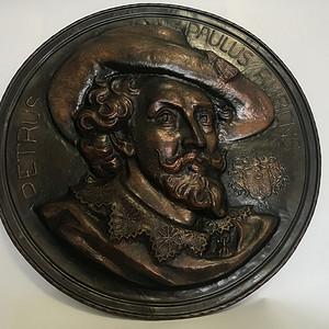欧洲著名画家鲁本斯像 铜胎 309