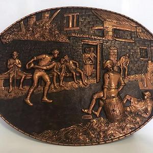 欧洲铜胎人物雕刻 作坊工人 310