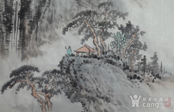 著名山水画家 朱亦中 四尺斗方松下听泉图2