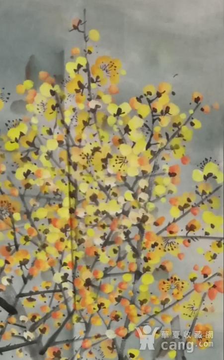 著名花鸟画家 马鸿达 四尺整张松鹤延年腊月寒梅图4