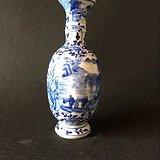 包老到代 清代康熙时期树叶款青花瓷瓶 完美品相 古玩老瓷器