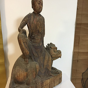 宋元木雕文殊菩萨