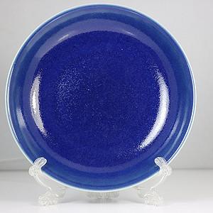 老祭蓝釉大盘