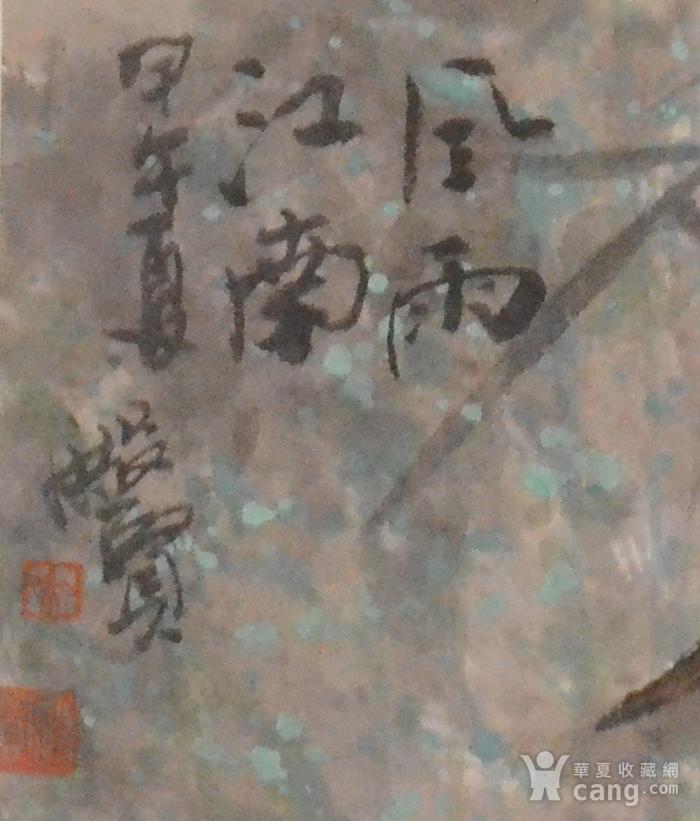 著名花鸟画家 赖殿贤 四尺斗方风雨江南图4
